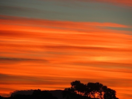 Canberra Australia Autumn Sunset Sky Clouds Nature Sonya Heaney 27th May 2017 2