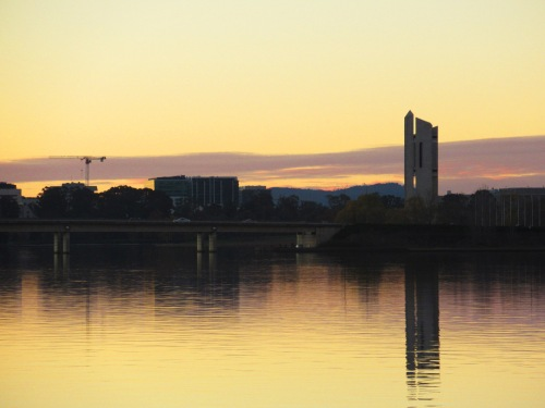 Canberra Australia Winter Evening Lake Burley Griffin Sonya Heaney 11th June 2017 National Carillon Reflection Nature SunsetIMG_2047