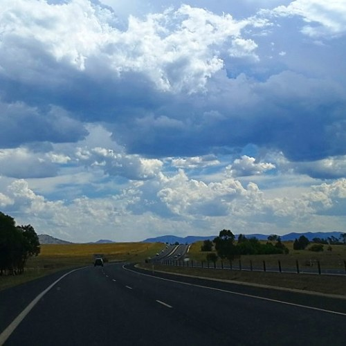 On the Road Queanbeyan New South Wales to Canberra Australian Capital Territory Australia 40 degrees Ukrainian Christmas Day Sonya Heaney Summer Heatwave 7th January 2018..