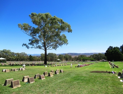 Queanbeyan Lawn Cemetery near Canberra Australia Sonya Heaney 28th February 2018 Blue Sky end of Summer