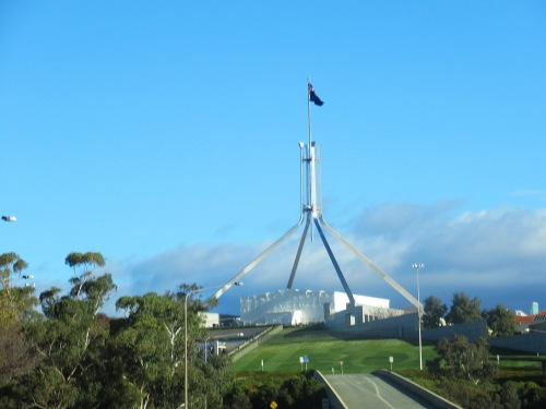 Australian Parliament House Canberra Australia Sonya Heaney 13th May 2018 Capital Hill Mother_s Day Blue Sky Sunny Afternoon Autumn