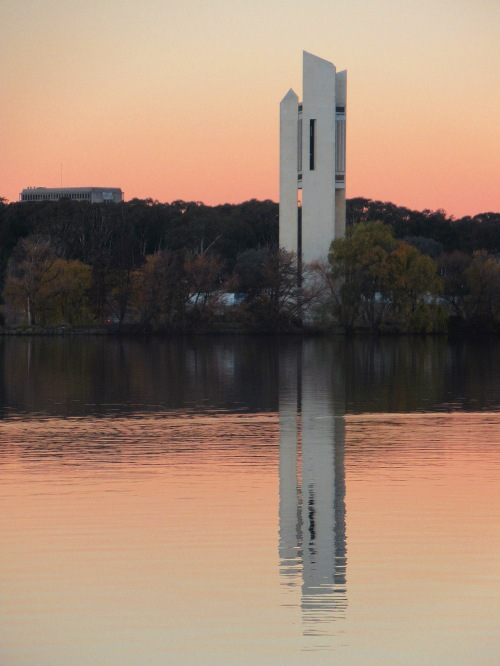 Winter Lake Burley Griffin Canberra Australia Sonya Heaney 9th June 2018 Carillon Nature Sunset pink