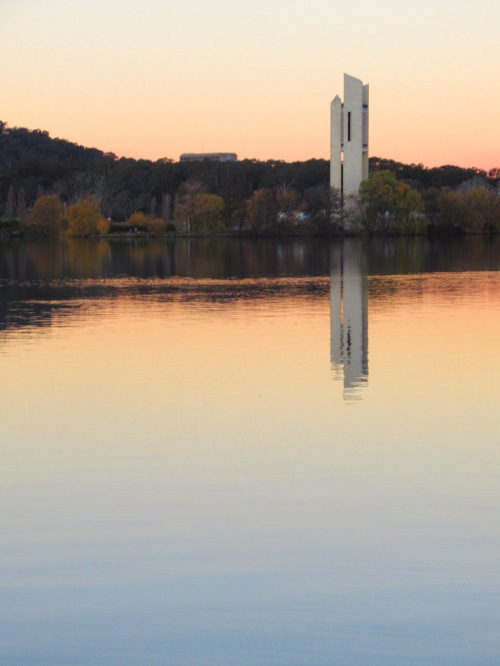 Winter Lake Burley Griffin Canberra Australia Sonya Heaney 9th June 2018 Carillon Nature Sunset