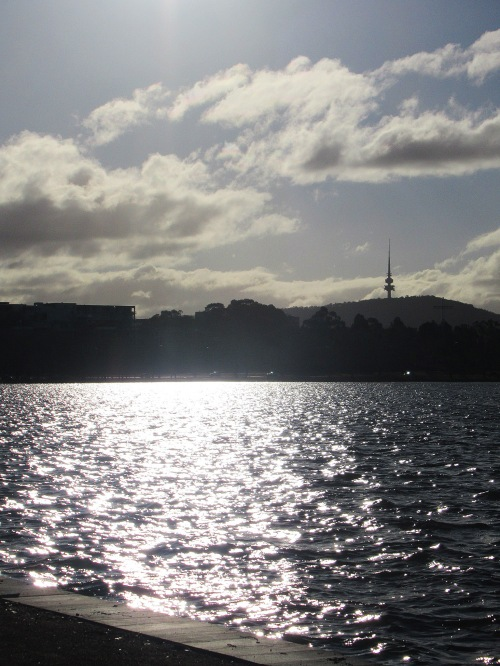 Sunny Winter Afternoon Lake Burley Griffin Black Mountain Tower Canberra AUstralia Sonya Heaney 4th August 2018