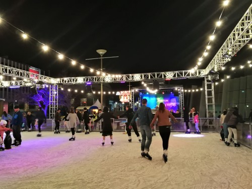 WinterVention Canberra Austrlaia OutDoor Ice Skating Canberra Theatre Centre Sonya Oksana Heaney 20th July 2019