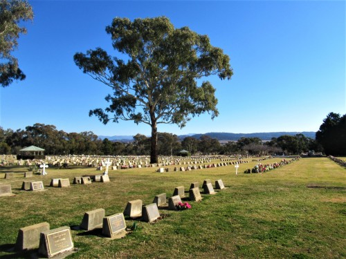 Queanbeyan Lawn Cemetery New South Wales Australia near Canberra Australian Capital Territory Sonya Heaney 2nd August 2019 1