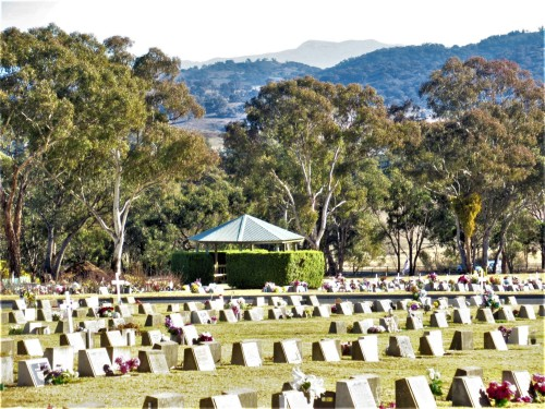 Queanbeyan Lawn Cemetery New South Wales Australia near Canberra Australian Capital Territory Sonya Heaney 2nd August 2019 2