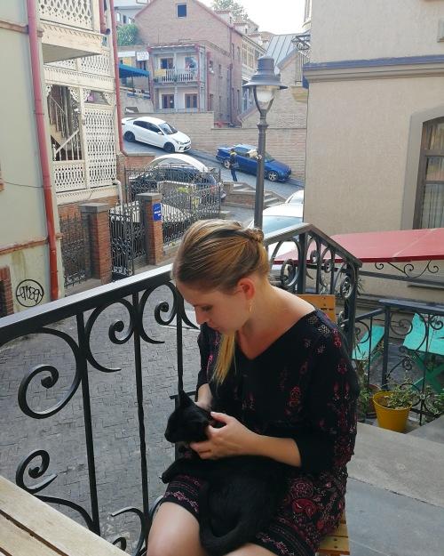 Sonya Heaney Author Tbilisi Georgia Black Cat Saturday 5th October 2019