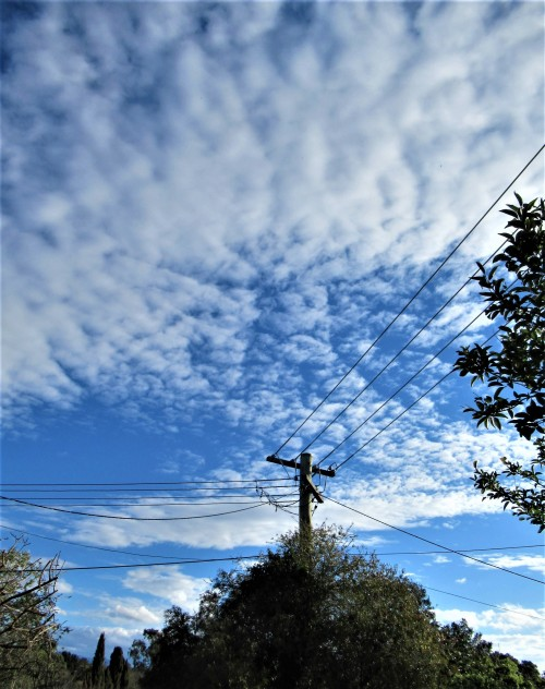 Blue Sky Winter Clouds Canberra Australia Sonya Heaney 1st July 2020 Nature