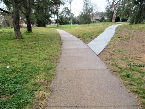 Dreary Afternoon Canberra Australia Tuggeranong 11th July 2020 Sonya Heaney Footpath Winter